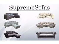 **BRAND NEW!!! **FROM £299** CORNER SOFA, 2+3 SOFA SET, CRUSHED VELVET, FAUX LEATHER, JUMBO CORD,