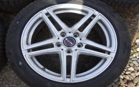 """Borbet XRT 18"""" Alloys with Huf TPMS Valves for BMW 5 Series F10 - As New"""