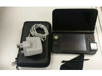 Black Nintendo 3DS XL + Carry Case + 4gb memory Card + charger