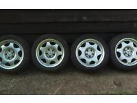 205 50 16 tyres on Mercedes alloy wheels