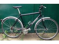 21 inch Raleigh Hybrid town & city bike road bicycle with MUDGUARDS