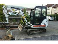 Mini digger for hire