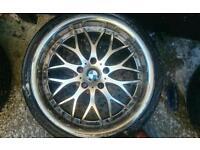 19 inch 5x120 alloy wheels BMW