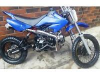 110cc pit bike Starts rides not mini moto 50cc 125cc