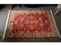 Red ground Ziegler rug