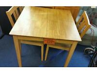 Extending Table and 2 chair's