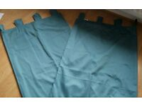 "Next Tab top Curtains in Teal / blue colour size 135cm x 137cm 53"" x 54"""