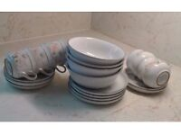 DENBY DAUPHINE, ENCORE, SWEETPEA TEASET, COLLECTABLE