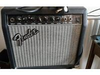 Fender amp and x2 microphones