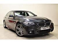 BMW 5 SERIES 2.0 520D M SPORT 4d AUTO 188 BHP + 1 OWNER + S/H + SAT NAV + LEATHER (grey) 2014