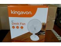 KINGAVON BRAND NEW DESK COOLING FAN