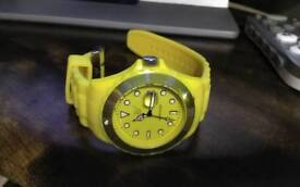 Yellow Silicon Watch
