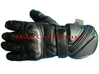 NEW WITH TAGS KEPROTEC THINSLUATED BLACK MOTORBIKE BIKER COWHIDE LEATHER GLOVES. ALL SIZES, S - 2XL