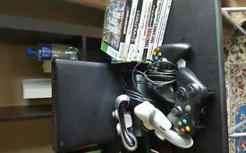 Xbox 360 9 games and 5 controllers