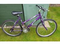Woman's Raleigh bike purple