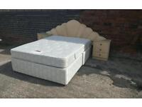 King size divan bed with 2 bedsides