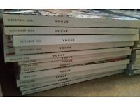 Vogue Magazine collection, 2006-2013 inc supplements