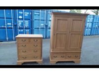 Quality Solid Pine Wardrobe And Chest Of Draws Possible Delivery