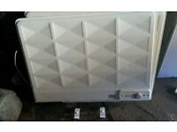 Electric oil filled radiator- used but working condition, include wall bracket