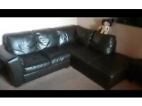 DFS Large corner sofa & matching snuggle chair.(Antique Brown).