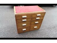 RETRO VINTAGE INDUSTRIAL HABERDASHERY STYLE CHEST OF DRAWERS