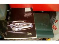 Jaguar x type car folder - books