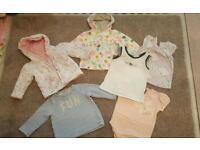 Baby girl 9-12 tops bundle