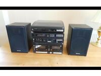 TECHNICS HI-FI 6 COMPONENT SYSTEM WITH TURNTABLE SL-J11OR SYSTEM