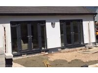 UPVC Patio Double Doors for Sale (Two Sets) in Anthracite Grey