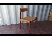 A vintage teak framed Danish chair by HW Klein for Bramin