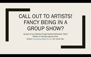Call out to artists! Stanmore Marrickville Area Preview