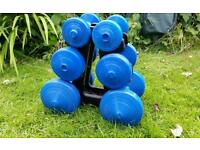Dumbbell tree/weights set of three