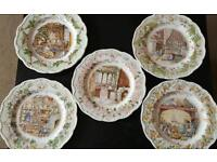 Collectable brambly hedge plates