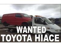 Toyota Hilux & hiace van wanted!!!