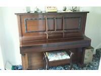 Bremar piano with storage stool