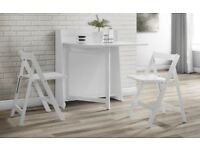 Brand New Julian Bowen Helsinki Dining Set - Folding Table & 2 Folding Chairs - RRP: £179.99