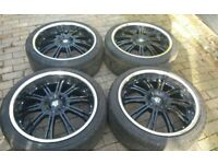 22 WOLFRACE ALLOY WHEELS 6 X 139.7 MITSUBISHI L200 SHOGUN NAVARA D22 WARRIOR ETC