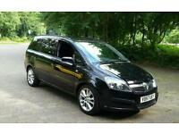 vauxhall zafira life cdti 120 bhp 7 seater 1.9 turbo diesel in black nice mpv cheap..