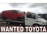 Toyota car jeep van wanted!!!