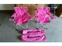 2x girls camping/festival chairs