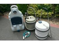 Water rolls and waste plus whale pump