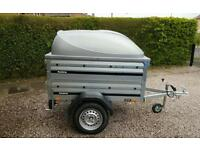 New Brenderup 1150s Car trailer +extension sides +lockable Abs lid.