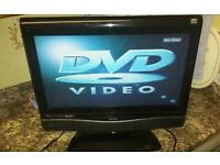 Bush 22 Inch LCD HD TV , DVD Player, Freeview, New Remote. Mint condition.