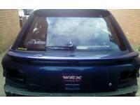 Subaru wrx sti turbo wagon boot lid with spoilers
