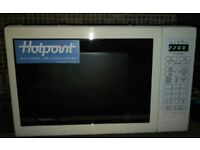 Hotpoint MC51/2P Combination Microwave Oven and Grill - white, Very good condition