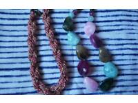2 beaded nacklaces