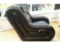 Full size inflatable massage chair