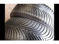 Part worn tyres / 225x50x17-245x45x17- winter tyres m+s - 41 new road rm138dr