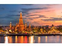 2 flight tickets London-Bangkok, 3.Jun