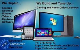 Computer Desktops, Laptops, Tablets, Phones repair, upgrade